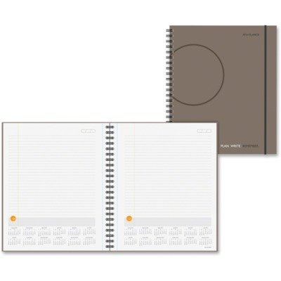 AT-A-GLANCE 2017 Plan. Write. Remember. Notebook with Reference Calendar, 9 3/16 x 11, Gray