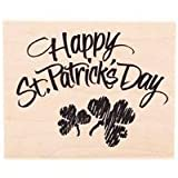 Posh Happy St. Patrick's Day Rubber Stamp