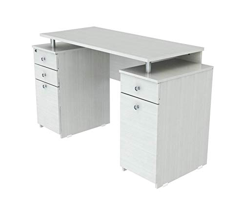 Double Faced Shelving Set - Wood & Style Office Home Furniture Premium Laura Collection Computer Desk