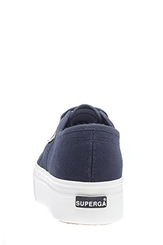 Superga 2790-Acotw Linea Up and Down, Baskets Femme, Mehrfarbig Blau (navy-offwhite)