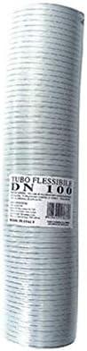 tubo de humos flexible de aluminio extensible WHITE 50 mm 1 a 3 mt