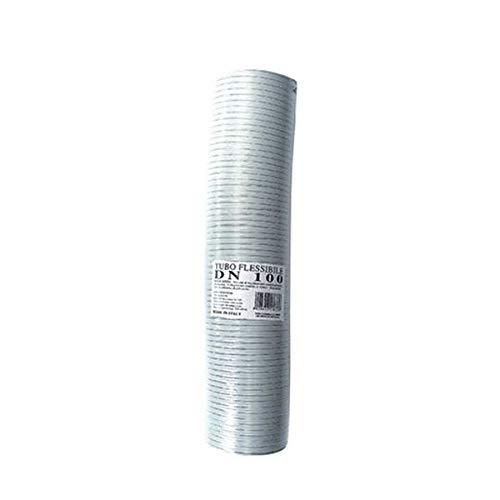 Tubo fumi flessibile estensibile alluminio BIANCO 60 mm da 1 a 3 mt