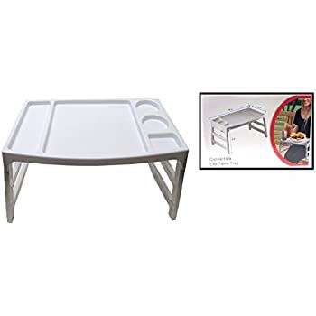 Convertible Foldable Lap Table Tray Multiple Use Food/Book On Bed Or Couch