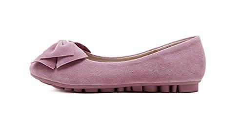 Trendy Trendy Strik Slip Op Platte Schoenen Roze Dames