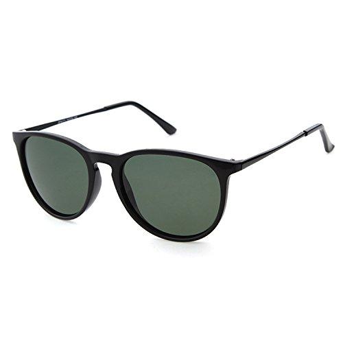 conduite lens frame protection UV400 de en de Black Lunettes polarisées Shiny pour soleil ADEWU lunettes unisexe Wayfarer vélo la Black 7wnqfaCHxp