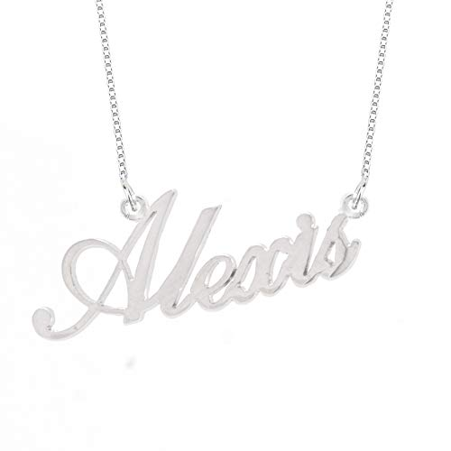 Lutilo 925 Sterling Sliver Custom Name Necklace Personalized Initial Necklaces Pendant Jewelry Gift for Her ()