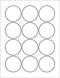 Amazon 6 sheets 72 2 14 round circle white stickers for 12 sheets 144 2 14 round circle white stickers for pronofoot35fo Choice Image