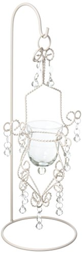 (Vintage Crystal Drop Candle Holder Hanging With Stand)