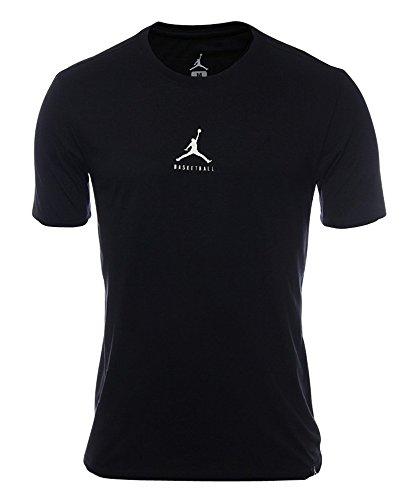 Nike Mens Jordan Dry 23/7 Jumpman Basketball T-Shirt Black/White 840394-010 Size X-Large