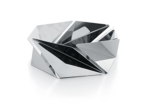 Alessi ''Kaleidos'' Basket in 18/10 Stainless Steel Mirror Polished, Silver by Alessi