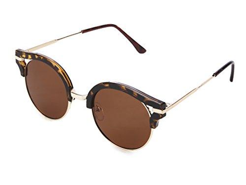 Sunglasses For Women Polarized Over Glasses Mirror Retro Round UV Protection byVATTERht032LeoBrown (Streamline Polarized Sunglasses)