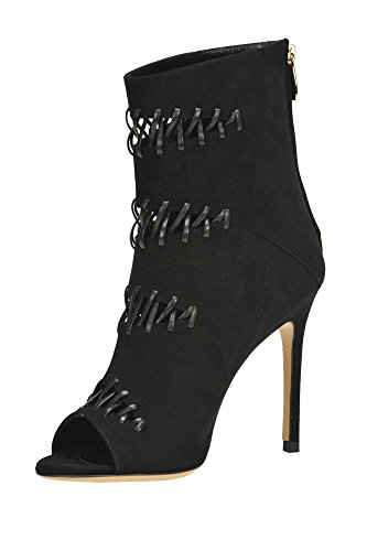 LUCIANO MCGLCAS04006I Boots PADOVAN Suede Ankle Black Women's rpC1gr