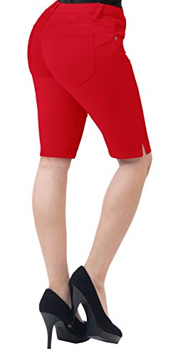 Super Comfy Stretch Bermuda Shorts B43308 Red 9