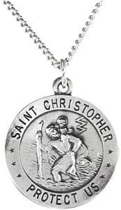 Christopher Pendant Sterling Silver St 18 Chain