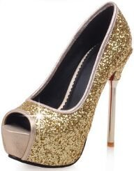 Laruise Women's Leather Platform Sandal Gold ln9Rq