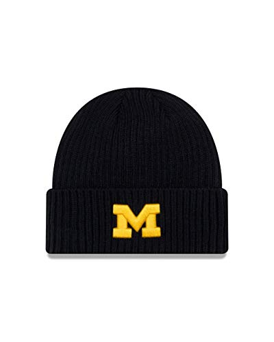 Michigan Wolverines Adult NCAA Core Classic Knit Beanie - Navy, One Size