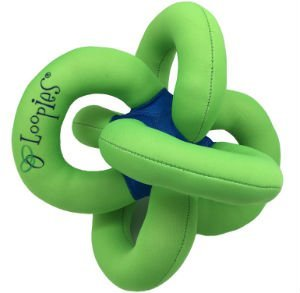 Loopies Green Solid Water Loopies- New 2016 Color- Floating dog toy