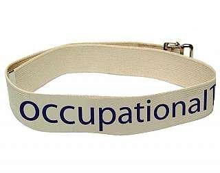Kinsman Enterprises 80724 Department Labeled Gait Belt, Occupational Therapy, 2'' Width, 54'' Length, #8 Natural