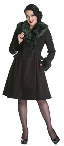 Hell-Bunny-Sexy-Winter-50s-Fashion-Rockabilly-Pin-Up-Faux-Fur-Collar-Coat