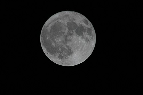 LAMINATED 36x24 inches POSTER: Full Moon Moonlight Night Rou