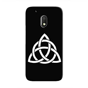Cover It Up - Triquetra & Circle Moto G4 Play Hard case