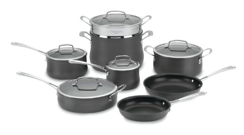 Cuisinart Anodized Cookware - Cuisinart 64-13 Contour Hard Anodized 13-Piece Cookware Set