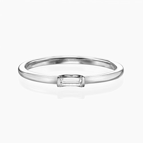 Single Baguette Diamond Ring by Ma'Gal Jewelry