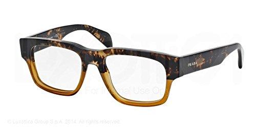 Prada Montures de lunettes 19Q Pour Homme Black, 51mm RO4-1O1: Spotted Brown / Matte Brown