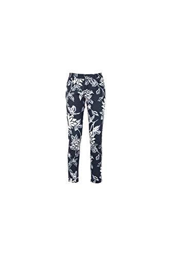 Caf Fiore PEINTES 2067 Cinq Sfumato IMPRIMES Blu Noir JJP269 Pantalons Poches rCqArw8