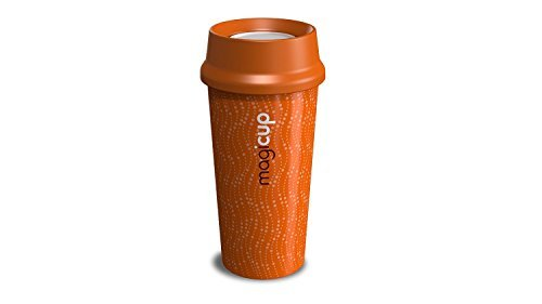 NEW!!! Twin Walled Thermally Insulated 360 Degree Drinking Barista Magicup with Increased Aroma & Anti Spill Technology, Revolution Orange by Magicup