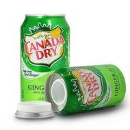 STASH SAFE CAN SODA 12 FL OZ CANADA DRY GINGER ALE with Free BakeBros Silicone Container and Sticker