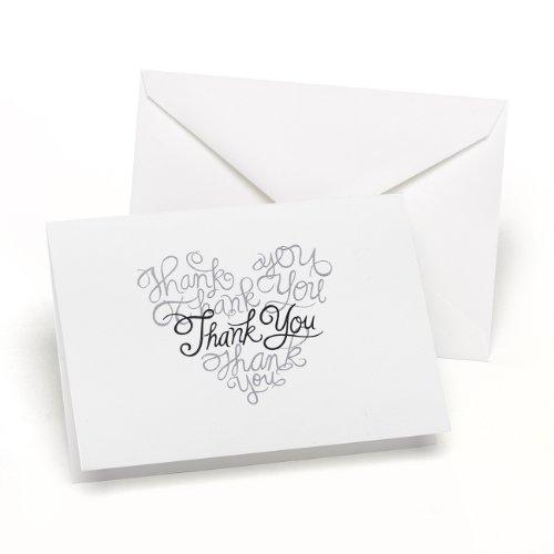Wedding Thank You Notes - Hortense B. Hewitt Heartfelt Thank You Cards Wedding Accessories, Set of 50