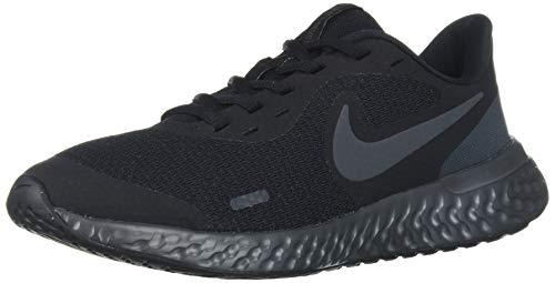 Nike Unisex Revolution 5 Grade School Running Shoe, Black-Anthracite, 6Y Regular US Big Kid (Nike Shoes For Little Kids)