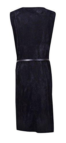 Calvin Klein Moto Faux Suède Ceinturée Femmes Robe Noire