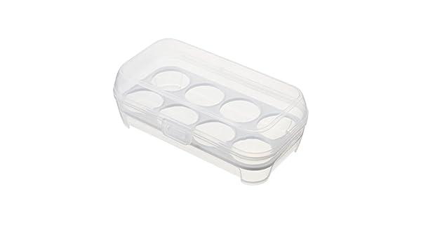 BESTOMZ 8 Huevos Caja de almacenamiento / titular de huevo ...