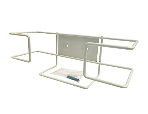 Disposable Glove Wire Rack, Wall Mounted Universal Box Holder, Single Rack (1 Rack, Best for Larger Sized Boxes)