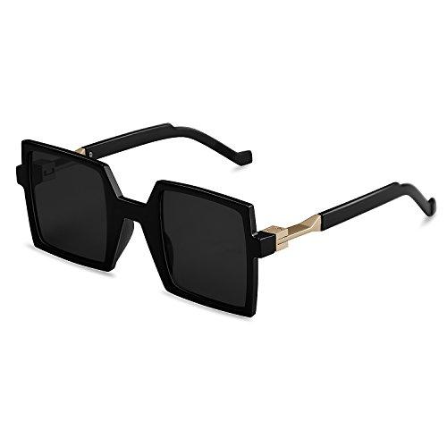 Goliath Ronin Oversized Square Sunglasses Vintage Retro Black Lens Rectangular Sunglasses Fashion Unisex Eyewear,UV400 Lens,Polycarbonate Frameectangular Sunglasses,UV400 Lens,Polycarbonate - Goliath Sunglasses