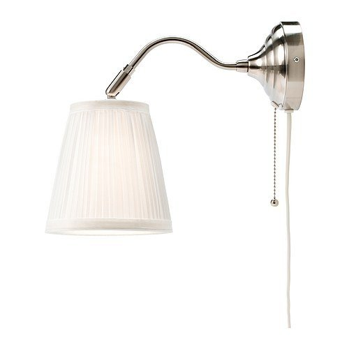 Ikea Wandleuchte Arstid Nernickelt Weiß Schirm 16 Cm D Lampe