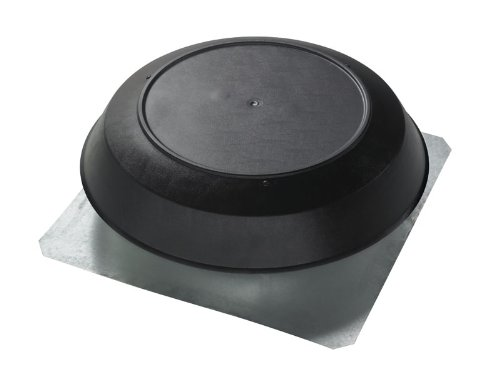 Broan 356BK1600 CFM Roof Mount Powered Attic Ventilator, Black PVC Dome ()