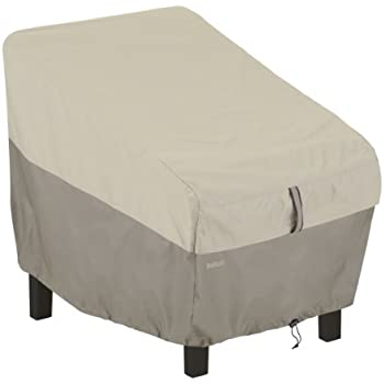 This Item Classic Accessories Belltown Outdoor Patio Chair Cover   Weather  And Water Resistant Patio Set Cover, Grey (55 268 011001 00)