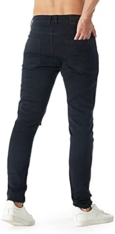 31QMMpBS5RS. AC bindu Black Men's Jeans Ripped Stretchy, Skinny Denim Pants with Holes, Black Jean for Men,2021trendy Jeans for Men    ★Black ripped slim jeans for men 18--45years old ★☛Stylish Street Style Design: Suitable for outdoor activities or relaxed weekends☛Men's black teared jeans can match light-colored clothes to meet the full fashion look☛Denim cleaning: 1.machine washing, 2. turn it out inside the jeans ,3. with same color clothe✉We recommend choosing more than two Asian sizes that you often wear, and additional unsuitable sizes can contact customer service to return product and postage