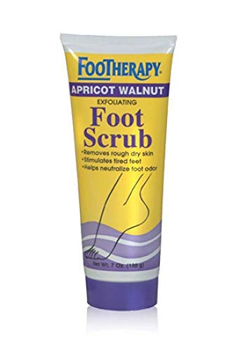 FOOTherapy Foot Scrub, Apricot Walnut - 7 oz (Footherapy Bath Foot)