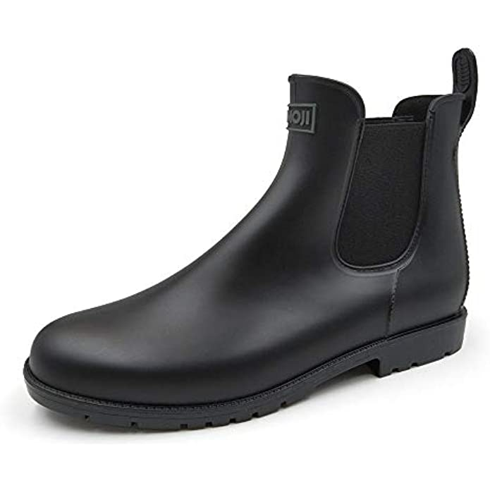 Amoji Unisex Ankle Chelsea Rain Short Boots