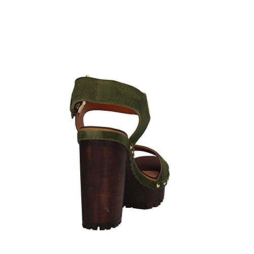 GIOSEPPO Couleur des talons verte sandales Spor 75 39067 en chaussures à bois pqgwOpr