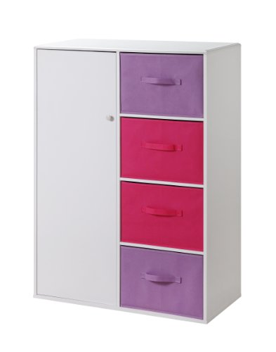 4D Concepts Girls 4 Drawer Armoire -