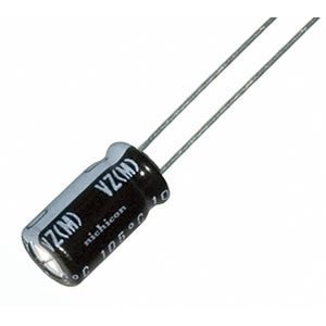 22uf 50vdc Capacitor 105c High Temp, Radial Leads