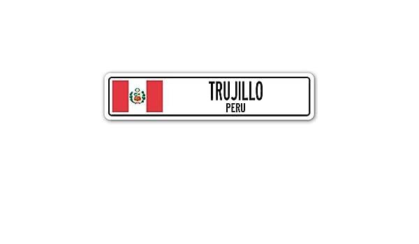 Sinluen Letrero de Pared con la Bandera peruana de Trujillo para ...
