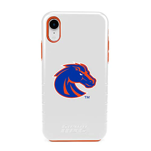 (Guard Dog Boise State Broncos - Hybrid Case for iPhone XR - White )