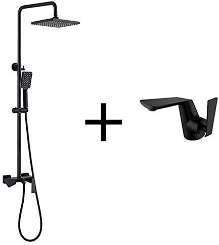 ゴールドと黒の豪華なバスルームシャワーセットバスルームゴールド&黒壁シャワー蛇口バスタブのシャワーミキサー,Shower c and faucet