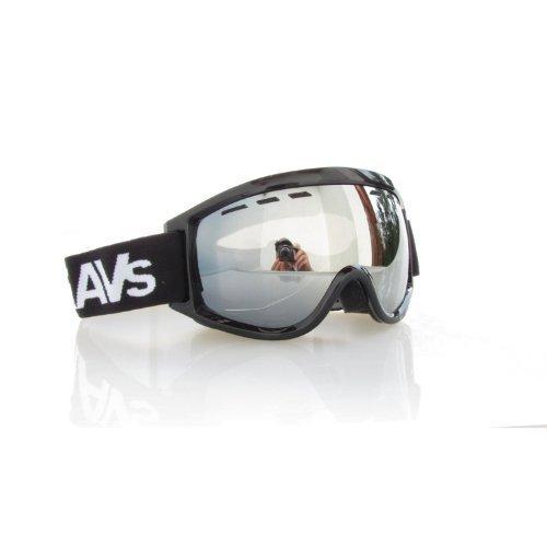 RAVS by ALPLAND SNOWBOARDBRILLE STRONG SILBER VERSPIEGELUNG - SKIBRILLE Goggle AUCH für BRILLENTRÄGER INKL.MICROFASERBAG!